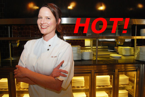 Last year's Hottest Chef winner, Jill Bates of Fearing's.