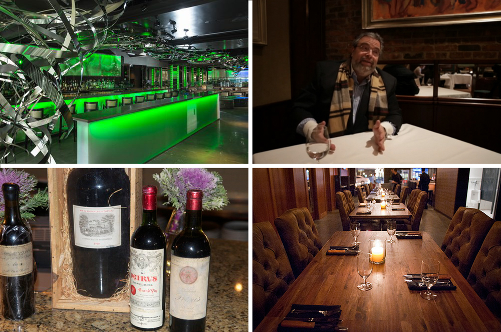 """Clockwise, from top left: Emerald Lounge, Boston. [Photo: Official Site]; Drew Nieporent, Tribeca Grill, New York City [Screenshot: <a href=""""http://ny.eater.com/archives/2013/02/nieporent_on_the_moment_when_a_chef_leaves_the_nest.php"""">Eater NY</a>];"""
