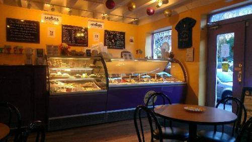 """Gorgeous Gelato in Portland, where the hot chocolate can make you """"hear sleigh bells"""" according to The Portland Press Herald's Meredith Goad."""
