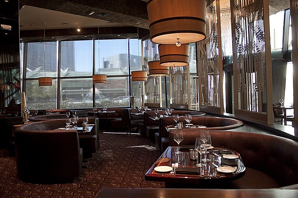 The dining room at SHe by Morton's.