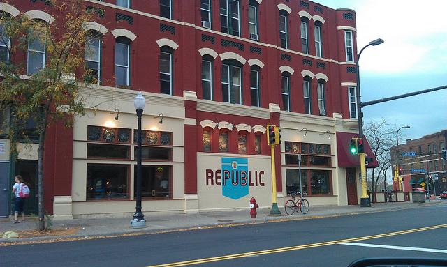 The red brick exterior of Republic