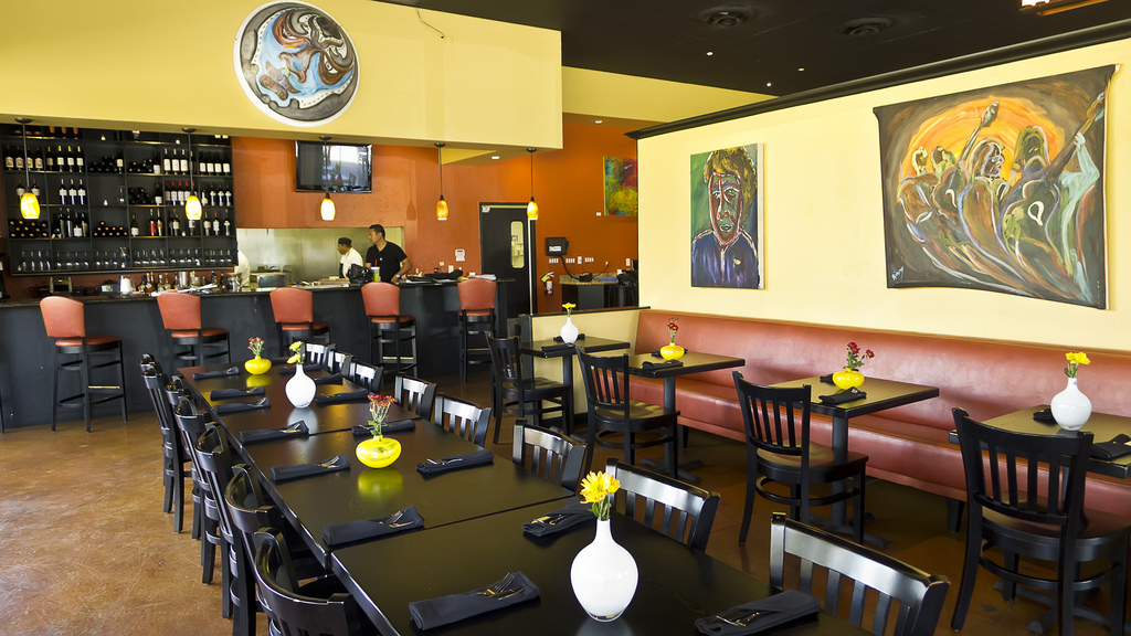 Inside Alma Cebiche & bar