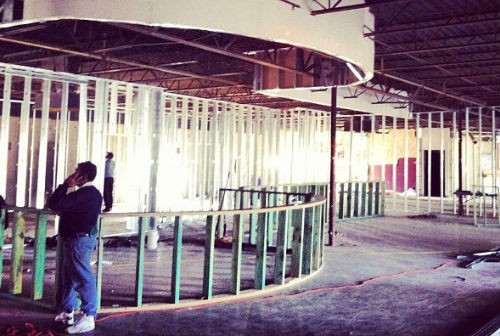 Construction underway at the second Cane Rosso location near White Rock Lake.