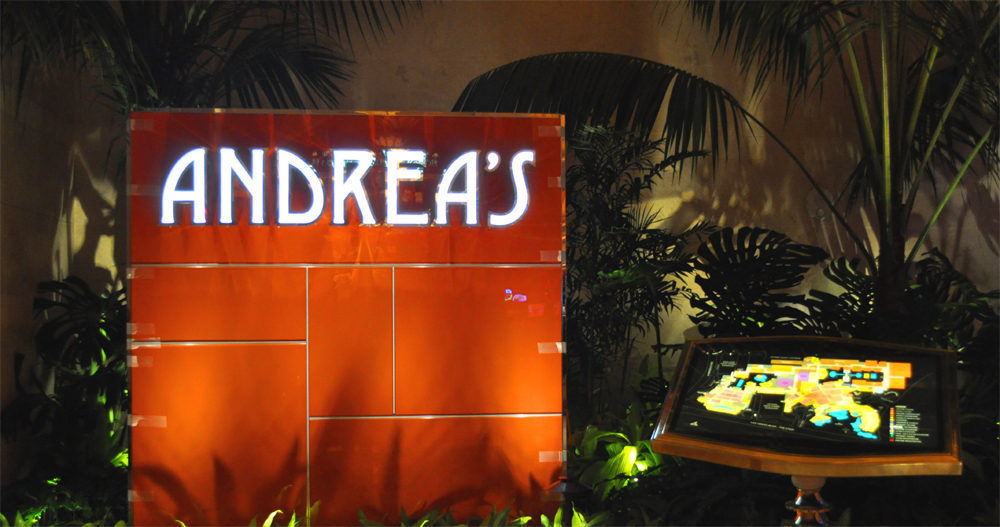 Andrea's signage waiting for the painter's tape to be removed.