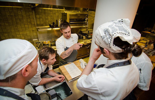 """<a href=""""http://eater.com/archives/2012/12/19/bryan-voltaggio-range.php"""">Behind the Scenes at the Opening of Bryan Voltaggio's Range</a>"""