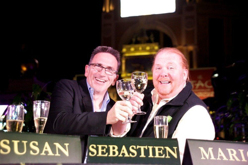 Rick Moonen and Mario Batali