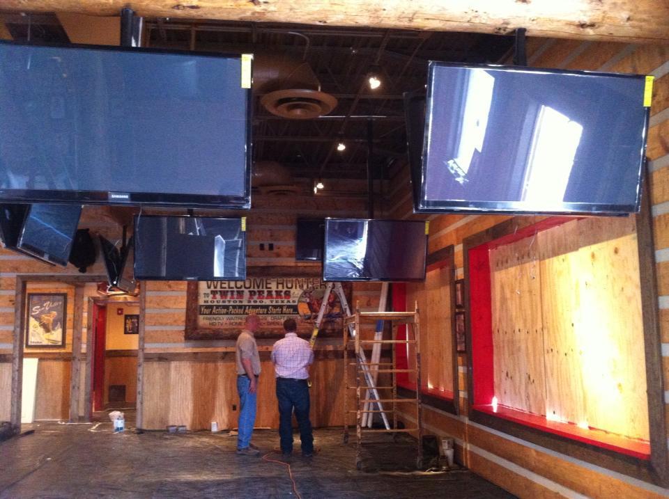 Installing the 90 TVs