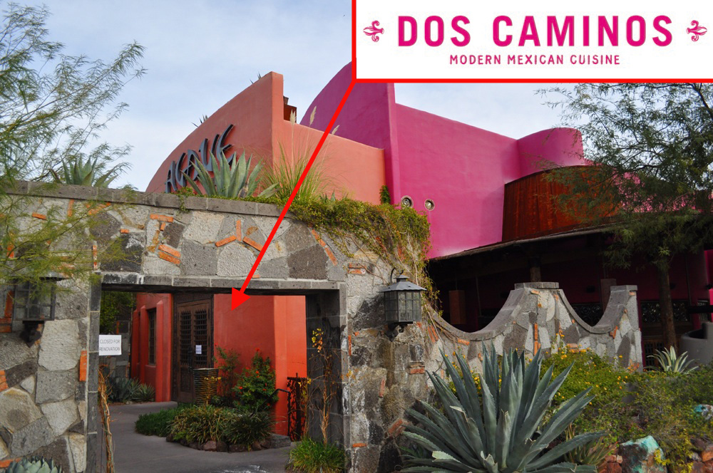 Agave, the future home of Dos Caminos