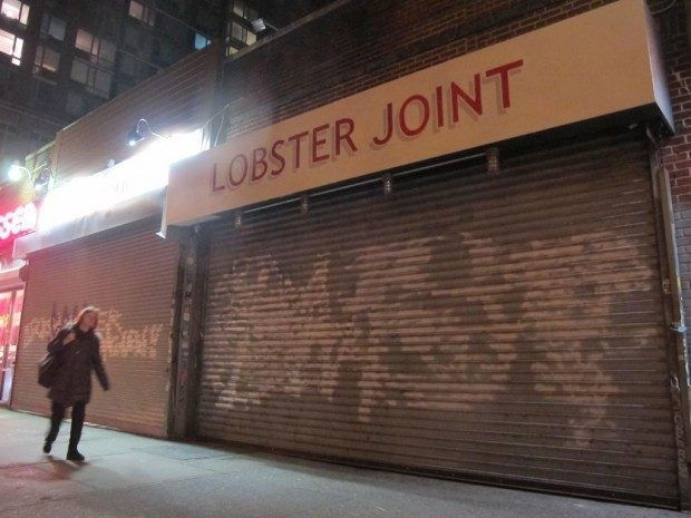 """Greenpoint's Lobster Joint, coming to 201 East Houston. [<a href=""""http://www.boweryboogie.com/2012/11/lobster-joint-brands-201-east-houston/"""">Bowery Boogie</a>]"""
