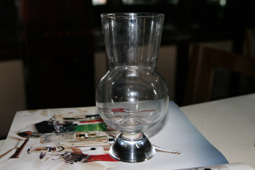 Todd Thrasher hates this glass and mostly just uses it for candles. Please steal/break it?
