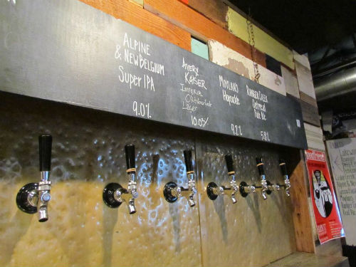 Beers on tap at Goodfriend.