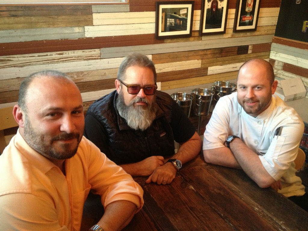 From left to right: Lance Fegen, Lee Ellis and Travis Lenig of Liberty Kitchen