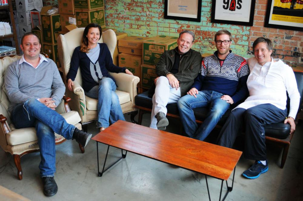 Bolsa and Bolsa Mercado co-owners: Chris Zielke, Jessica Jeffers, Royce Ring, Chris Jeffers, Alex Urrunaga.