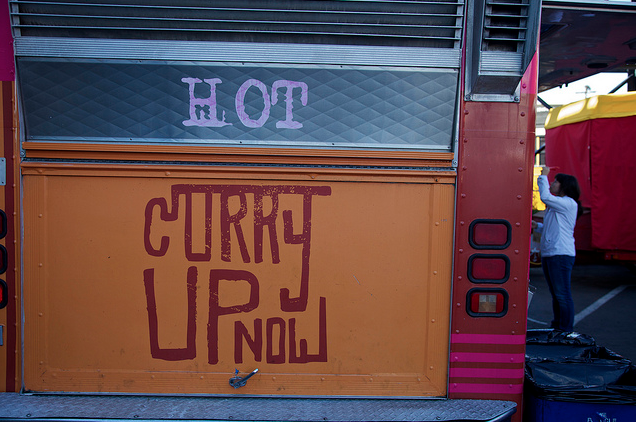 Curry Up Now truck.