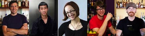 The nominees: Kirk Estopinal, Jason Lee, Rhiannon Enlil, T. Cole Newton, Brad Smith