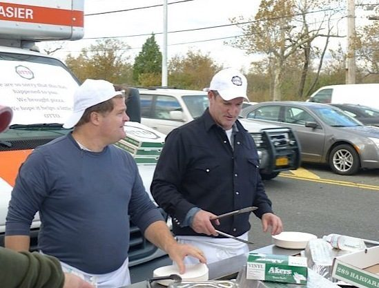 Otto co-owners Anthony Allen (left) and Mike Keon ready to serve.