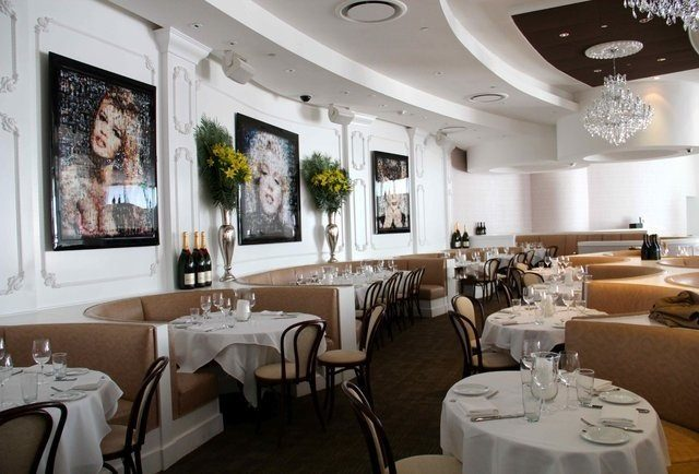 The dining room at Bagatelle.