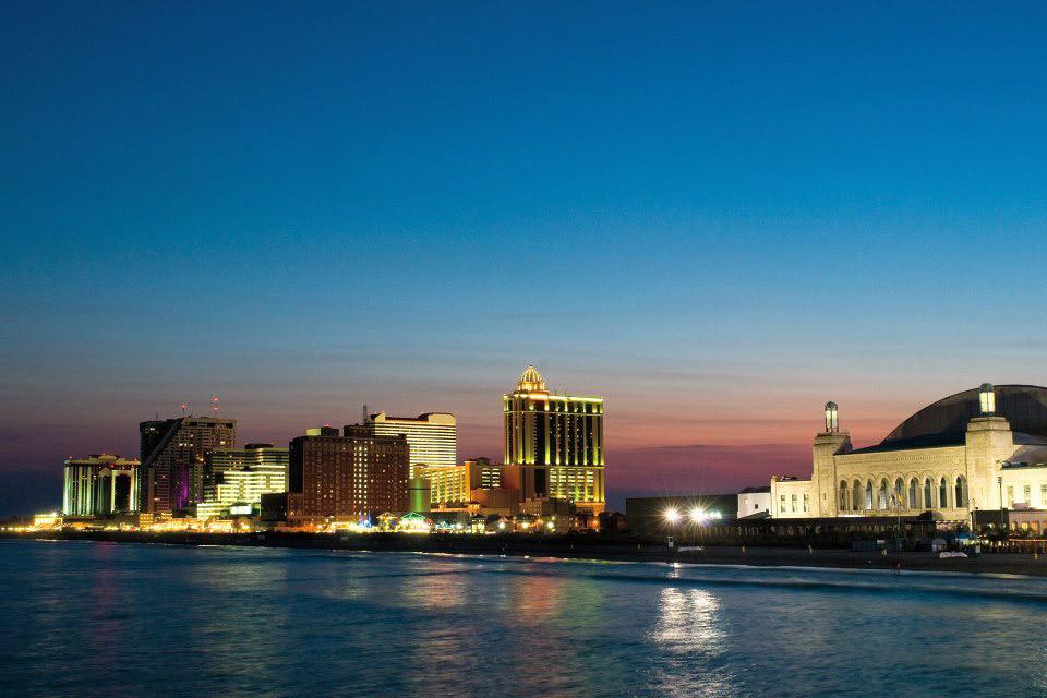 Atlantic City skyline.