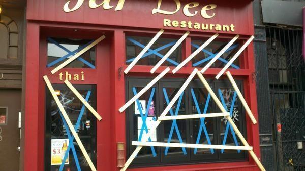 "A Thai restaurant on Seventh Avenue in South Slope. [<a href=""https://twitter.com/yasmeenkhan/status/262923323032346624"">@yasmeenkhan / Twitter</a>]"