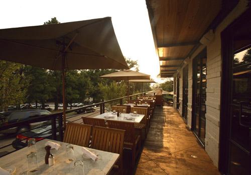 The patio at Ecco.