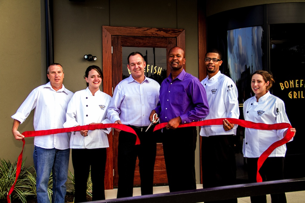 At the opening of the new Bonefish Grill in Willowbrook
