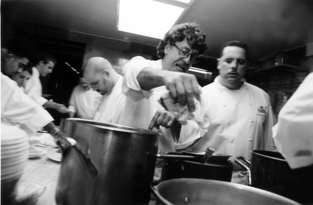 Chefs Jean-Louis Palladin and Michael Demers at the James Beard House circa 2001.