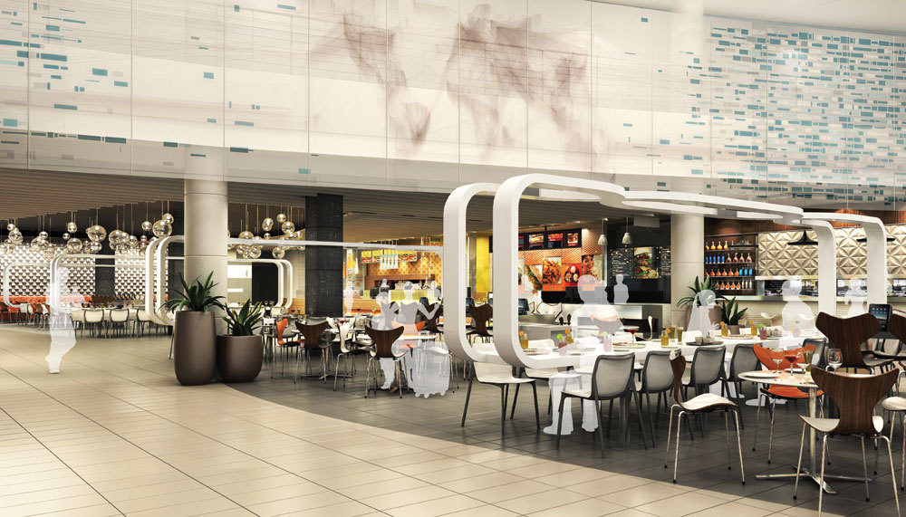 The new food court at Terminal 5
