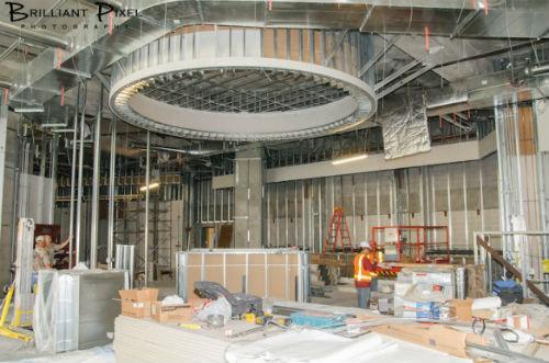 Construction at Stampede 66.