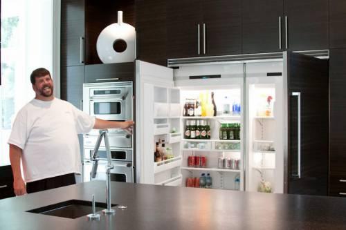 Kevin Rathbun in his home kitchen.