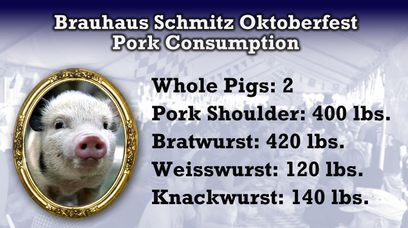 A lot of pork was consumed last weekend.