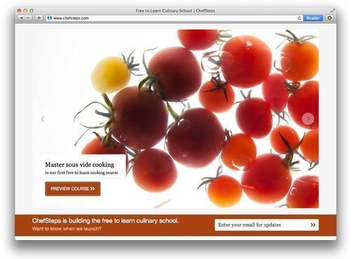 """<a href=""""http://eater.com/archives/2012/09/26/modernist-cuisine-alumni-launch-chefsteps-an-online-culinary-school.php"""">Modernist Cuisine Alumni Launch ChefSteps, an Online Culinary School</a>"""