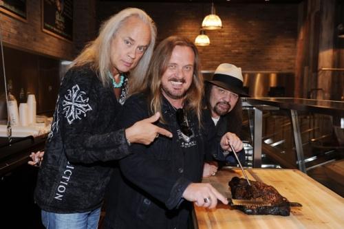 Lynyrd Skynyrd at the opening of their restaurant.