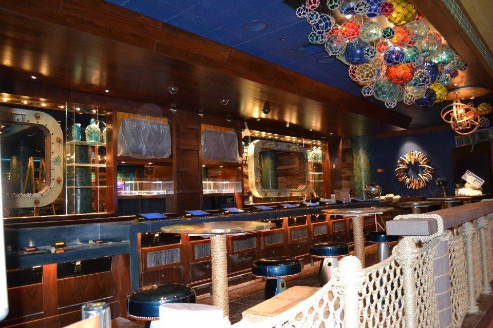 The bar at Seafood Shack.