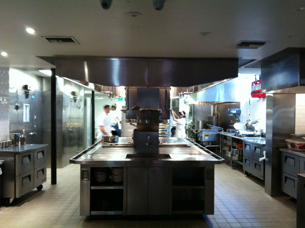 The kitchen at The Pass & Provisions looks pretty close to ready.