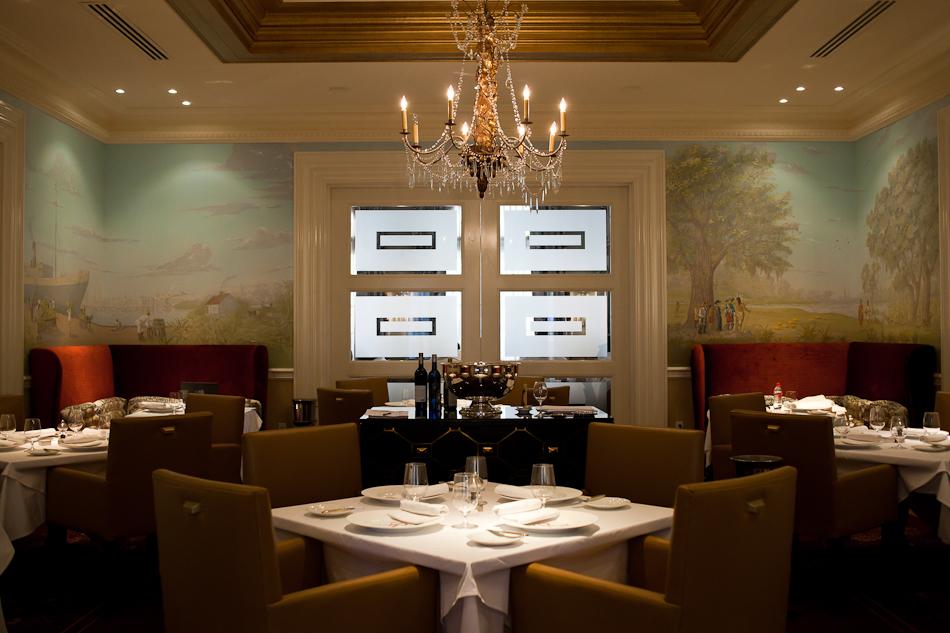 Inside Restaurant R'evolution.