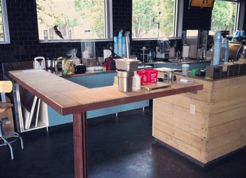 The manual brewing bar at the new Dancing Goats Coffee in Ponce City.