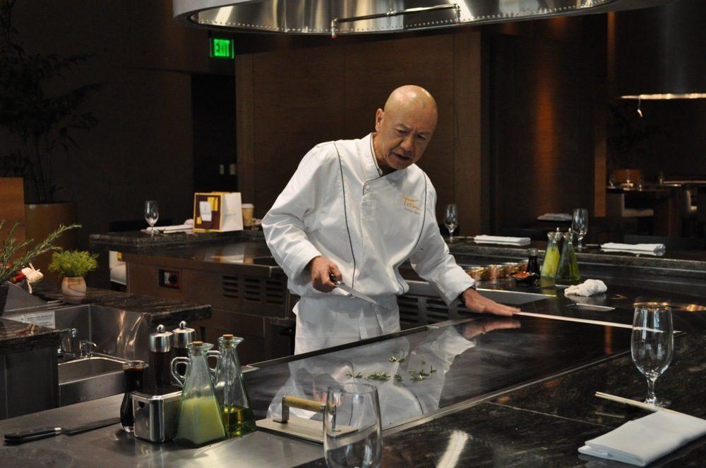 Chef Masa Takayama at his new restaurant, Tetsu, inside BarMasa at Aria.