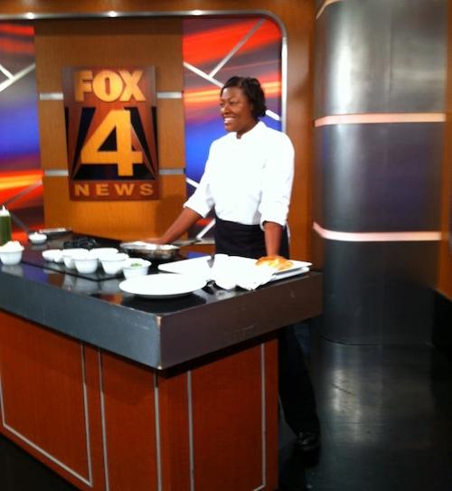 Chef prepares.