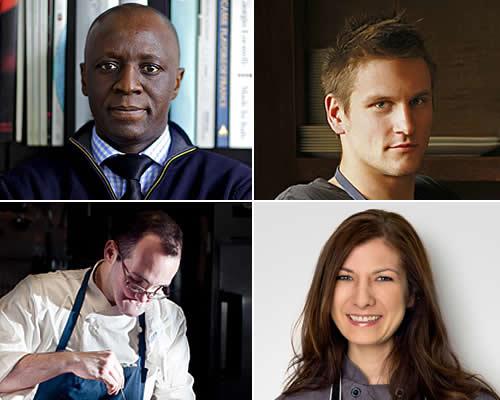 From Top - Shola Olunloyo, Jason Cichonski, Monica Glass, Chris Kearse