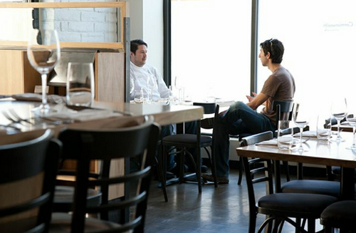Chef Jason Fox does an interview at Commonwealth.