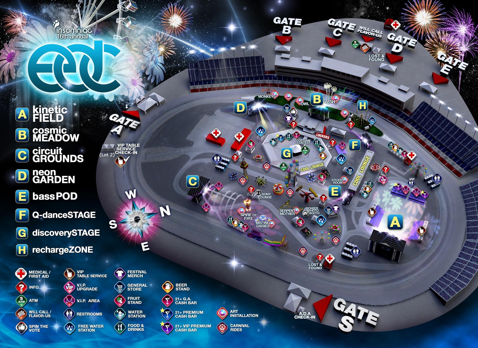 Las Vegas Motor Speedway Eater Vegas - Edc las vegas map 2016