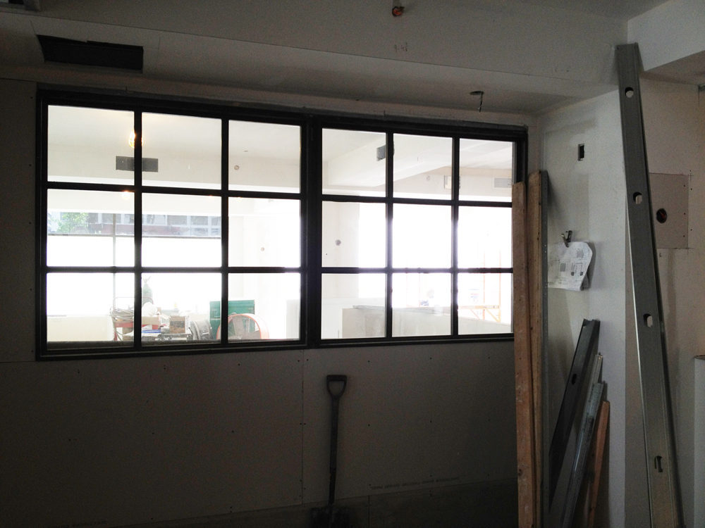 The entry will have windows to look into the main dining room