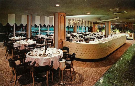 The long-gone International Room at Louis Armstrong Airport