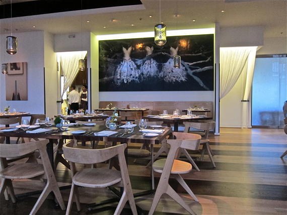 Triniti's high fashion dining room.