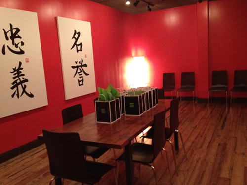 Maki Fresh private dining room. Photo by Carly Cooper.