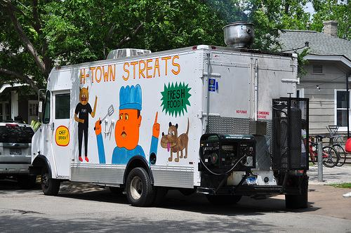 The H-Town StrEATS food truck, serving crazy tacos for Cinco de Mayo soon.