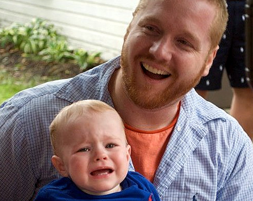 Chef Brad Spence with son Cole