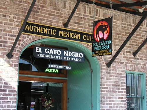 Outside El Gato Negro by the French Market.