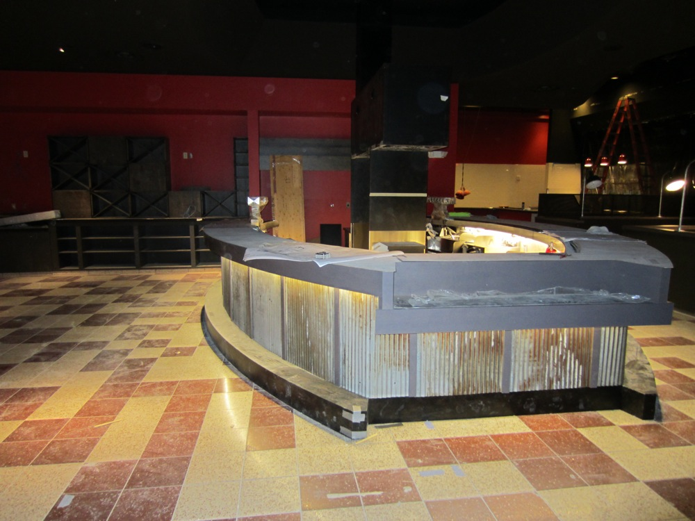 The bar at Slice of Vegas