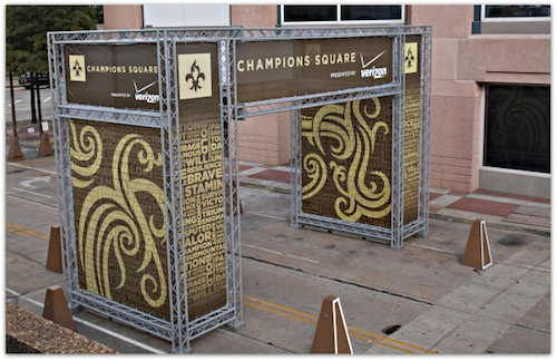 """Champions Square, home of next weekend's New Orleans International beer Festival. [Photo: <a href=""""http://www.frenchquartercondotrends.com/?p=1562"""">French Quarter Condo Trends</a>["""